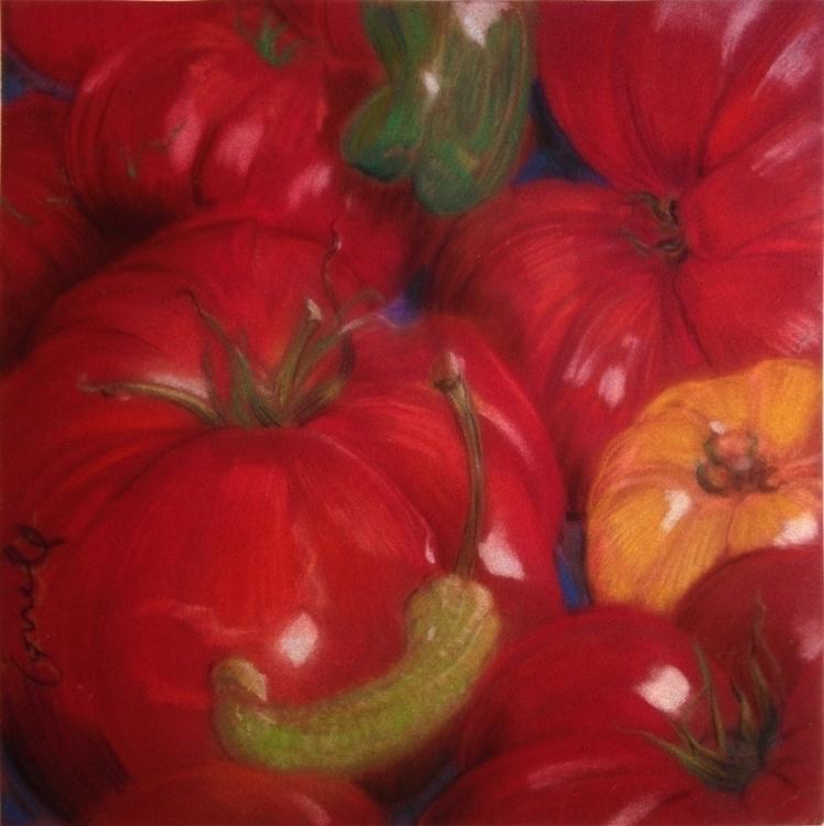 tomatoes, life - illustration, painting - gregcorrell | ello