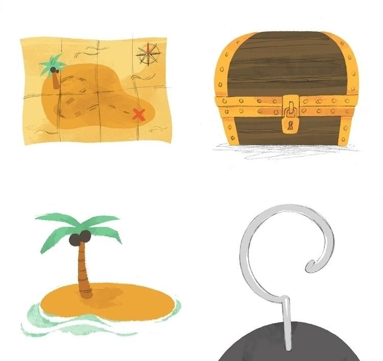 treasure, map, chest, island - cmouta | ello