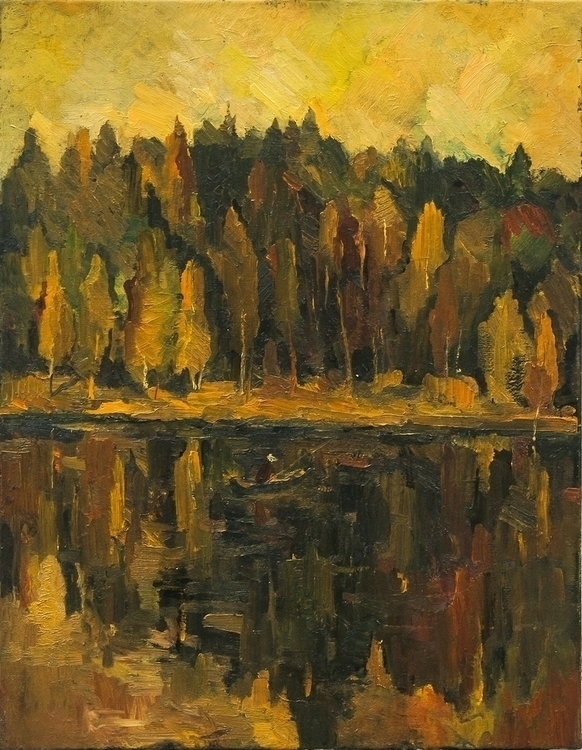 Golden Sunset, 70/80, oil canva - antonbogatov | ello
