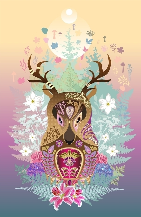 mother deer - nature, snow, winter - polkip | ello