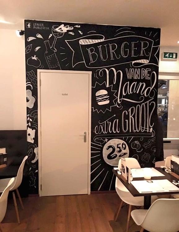 mural burger restaurant Apeldoo - kellybreemer | ello