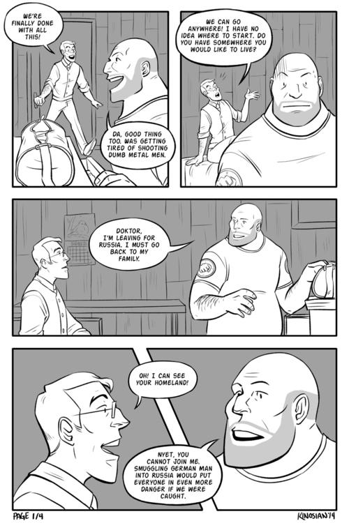 Leaving 1 - comics, tf2, teamfortress2 - jamiekinosian | ello