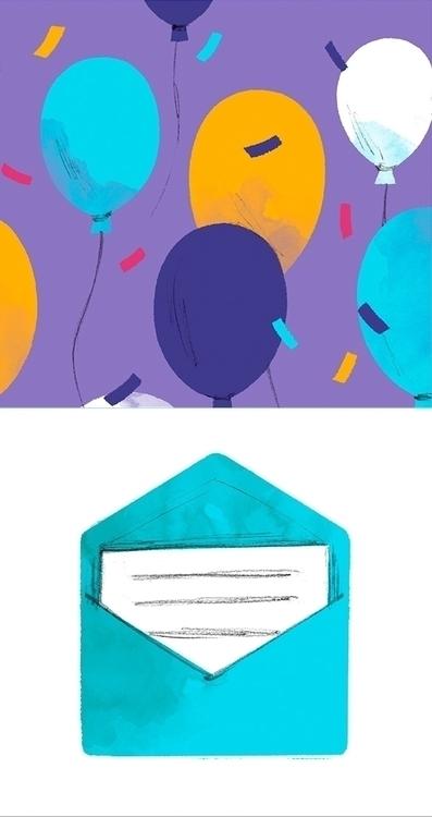 party, ballons, invitation, letter - cmouta | ello