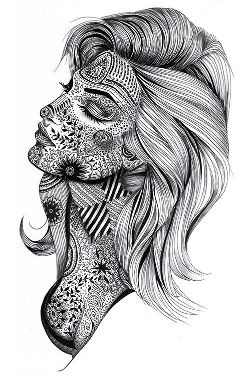 Illustrated Woman - illustration - melissabrunet | ello