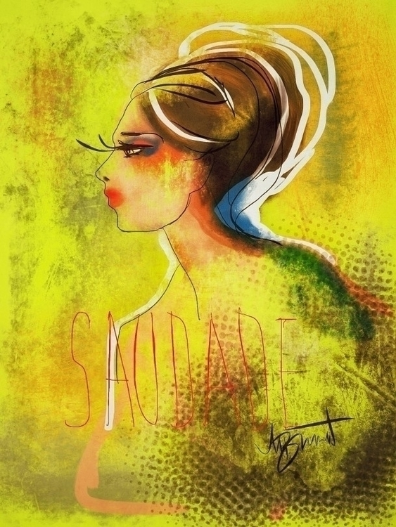 Saudade - illustration, ipadsketch - melissabrunet | ello