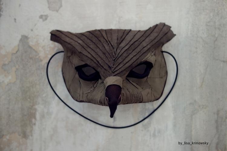 Owl_mask - owl, mask, design, sculpture - lisa_krinowsky | ello