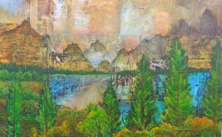 Mountain Landscape, acrylic col - sabrinajill | ello