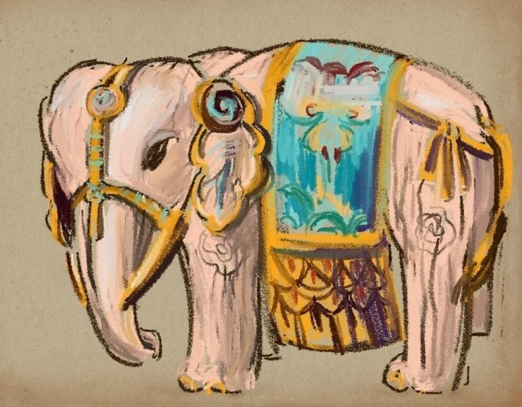 Elephant. Moscow Orient museum - usumasinta | ello