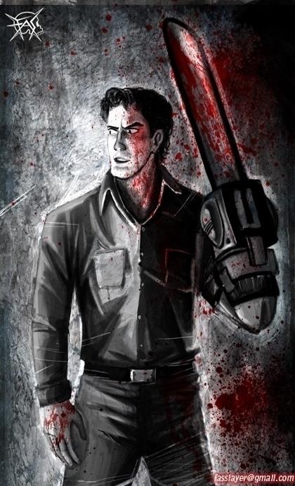 Ash Evil Dead - ash, evildead, fanart - fasslayer | ello