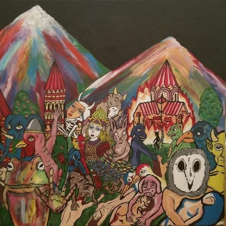 1 - illustration, painting, mountains - apo-8133 | ello