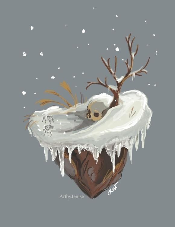 painting, conceptart, winter - artbyjenisse | ello