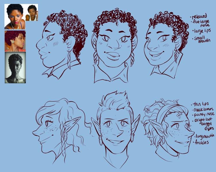 face reference - godsinnewyork, webcomics - jamiekinosian | ello