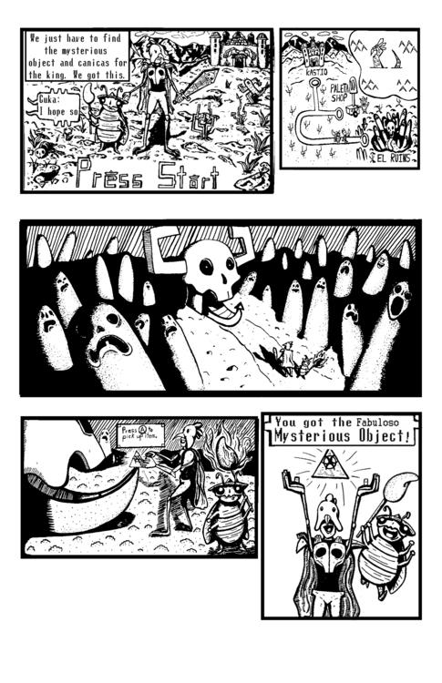 Page 1 Legend Polloman comic! M - gonzzink | ello