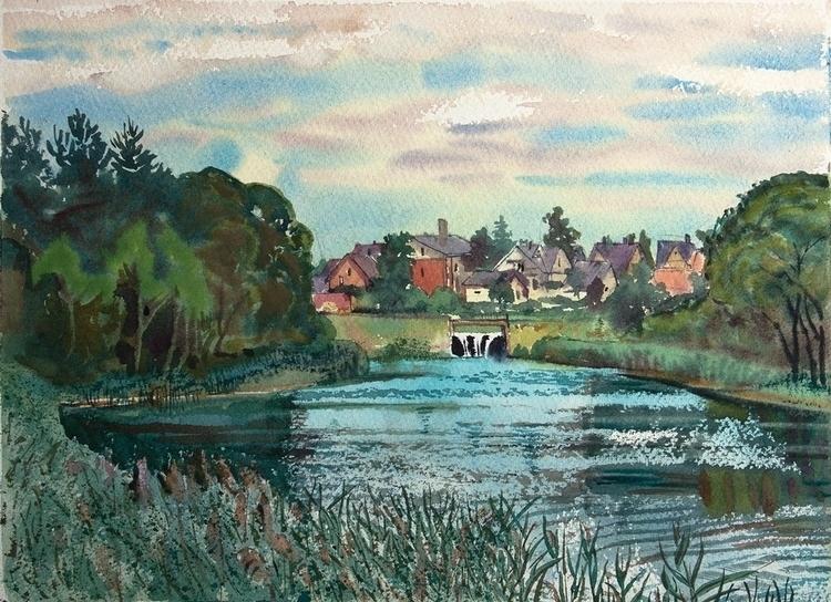 watercolor, watercolour, landscape - naktisart | ello