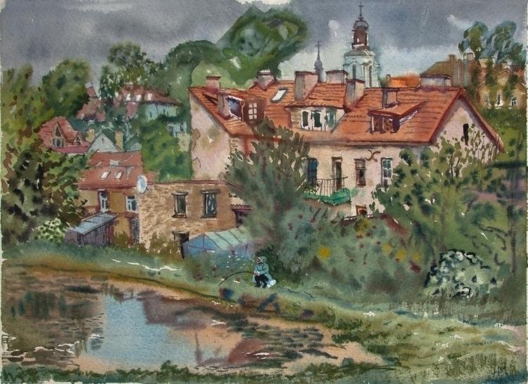 view Vilnius - watercolor, watercolour - naktisart | ello