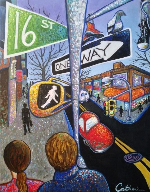 16 ST - popart, urbanart, nyc, brooklyn - catsnodgrass | ello