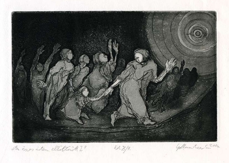 gods II - illustration, etching - gollo-1028 | ello