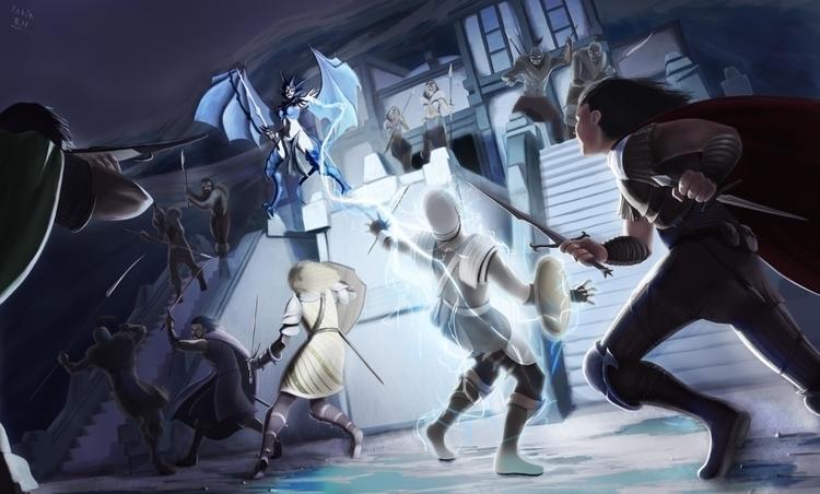IceWind Dale 2 Fan art.  - illustration - bagam | ello