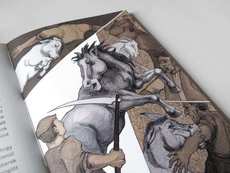 Animal farm - illustration, bookcover - gollo-1028 | ello