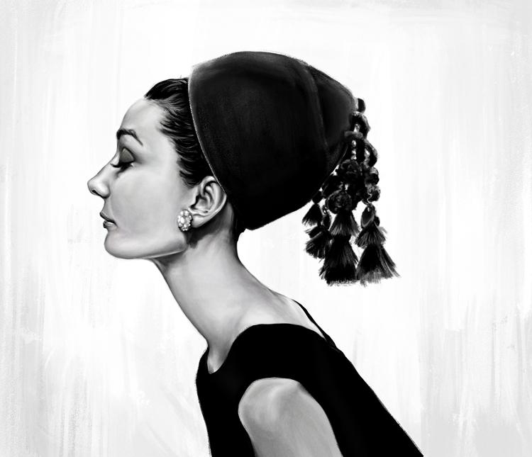 Audrey Hepburn - audreyhepburn, blackandwhite - johnt-1153 | ello