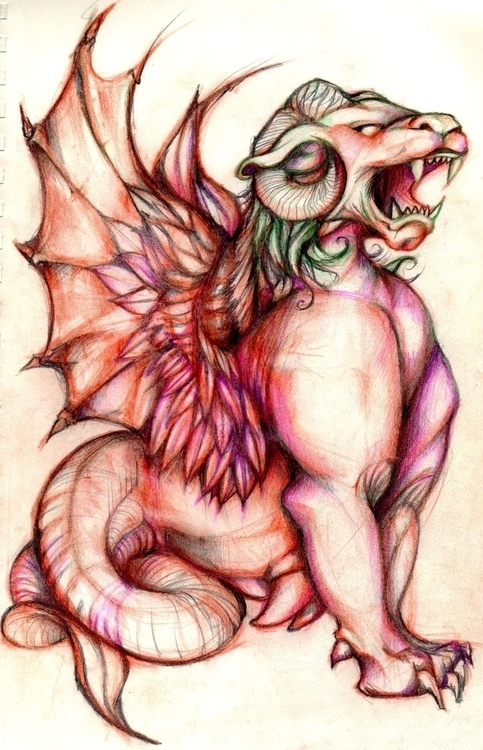 MerLiondeamonhorns - dragon - jeremieduval | ello