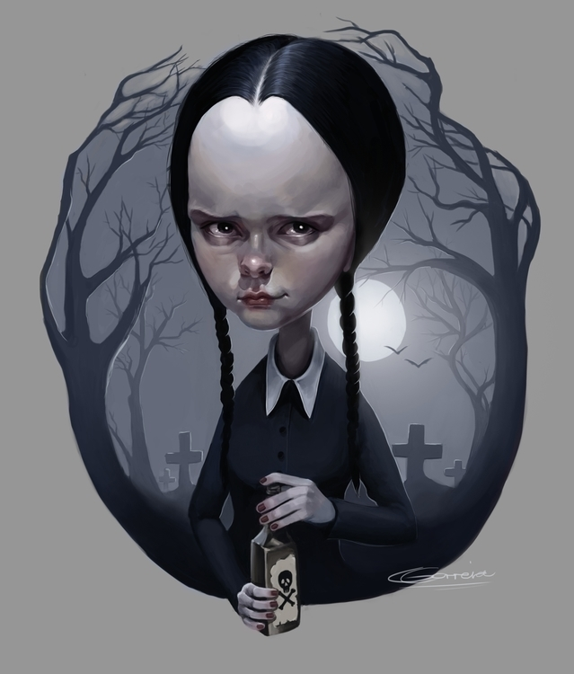 Wednesday Addams - popsurrealism - nightshadeberry | ello