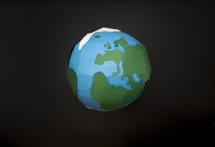 3D handmade paper globe Earth D - utensils0 | ello
