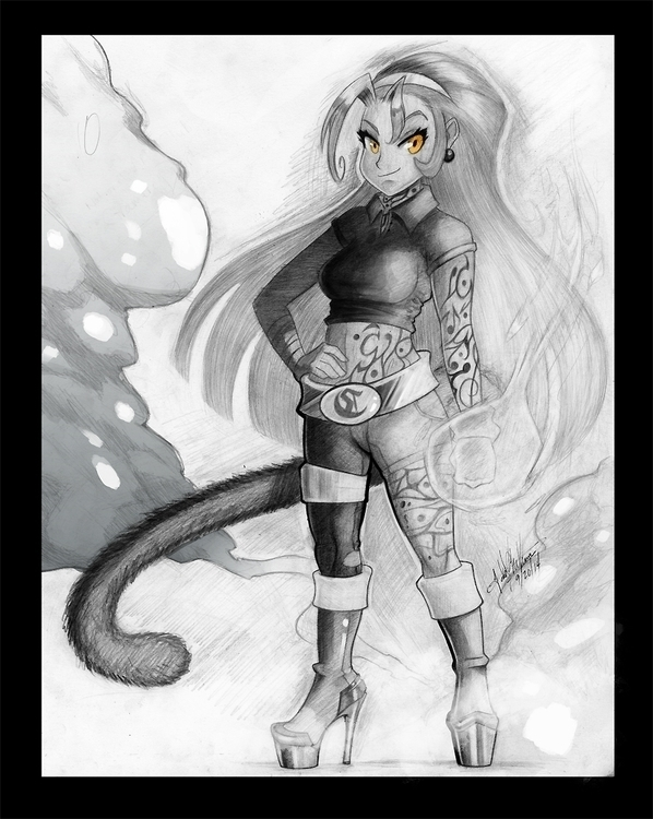 character. Caroline. draw - illustration - toomuchtodd   ello