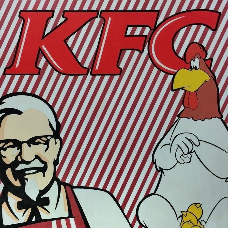 KFC ( 80 5 cm).- Acrylic paint  - jandroitu | ello