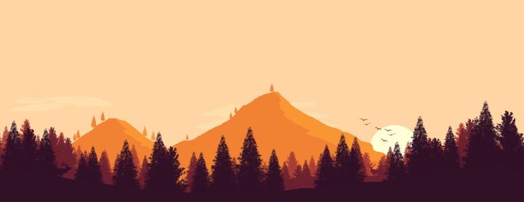 Firewatch inspired flat landsca - ryanmakesmovies | ello