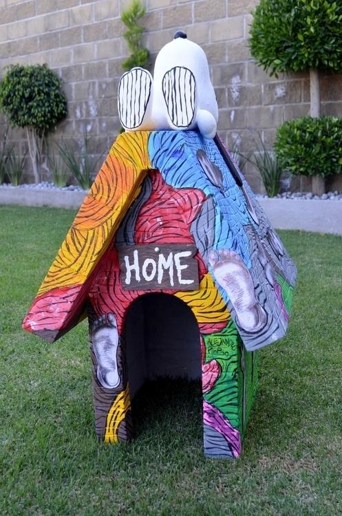 Intervención casa de Snoopy - snoopy - alejandropinpon | ello