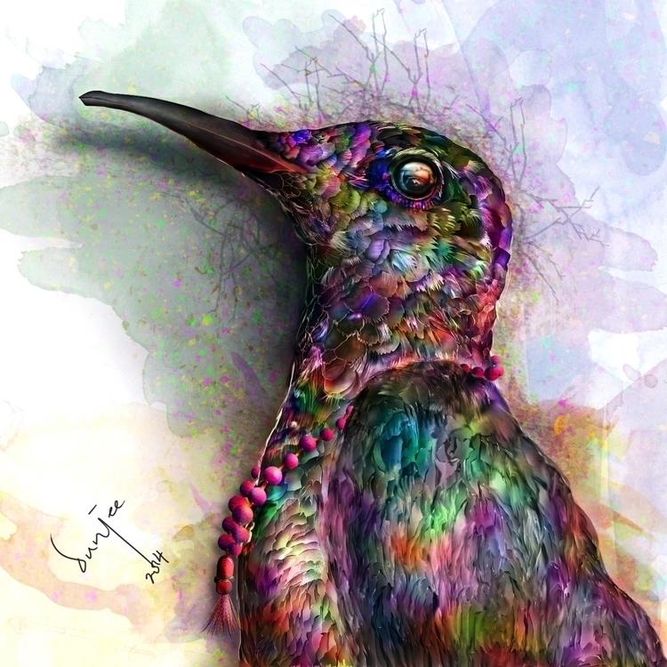 Afro Birdie - illustration, digitalillustration - dunjee | ello