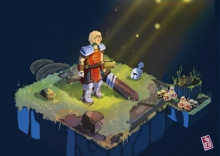 Quest Tower - illustration, gameart - pb-1050 | ello