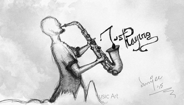 Playing - illustration, drawing - dunjee | ello