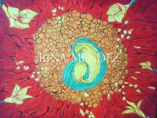 Origenes - acrylic, flowers - rinamr | ello
