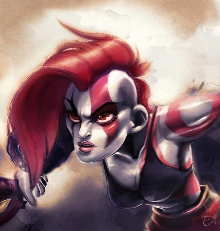 kratos, godofwar, videogame, fanart - el0394 | ello