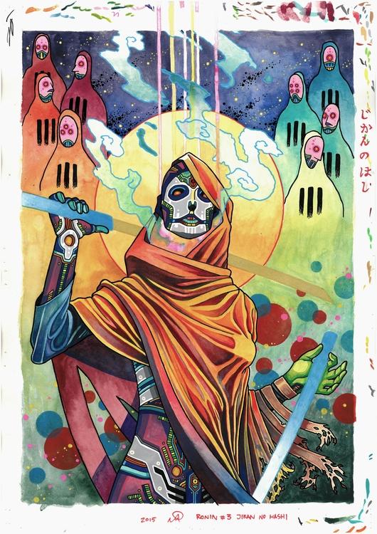 RONIN ~ JIKAN HASHI watercolor  - elhuervo | ello