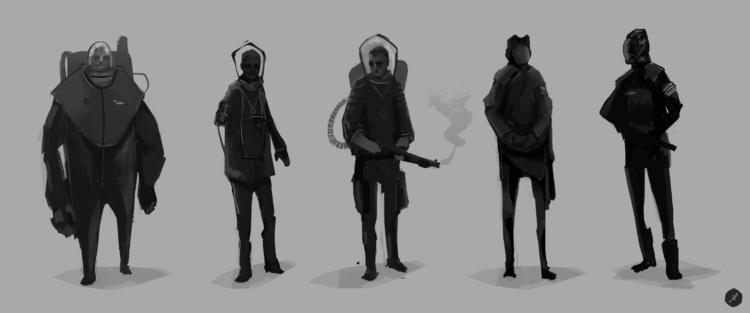 Character Concepts - 02, digitalpainting - jordan_buckner | ello