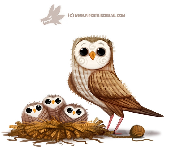 Daily Paint 1309. Yarn Owl - piperthibodeau | ello