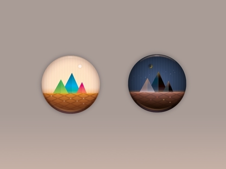 Icon set scenery - adobeillustrator - katehuang | ello