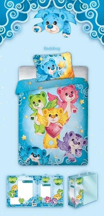 Rainbow Bears - bedding design  - tenenbris | ello