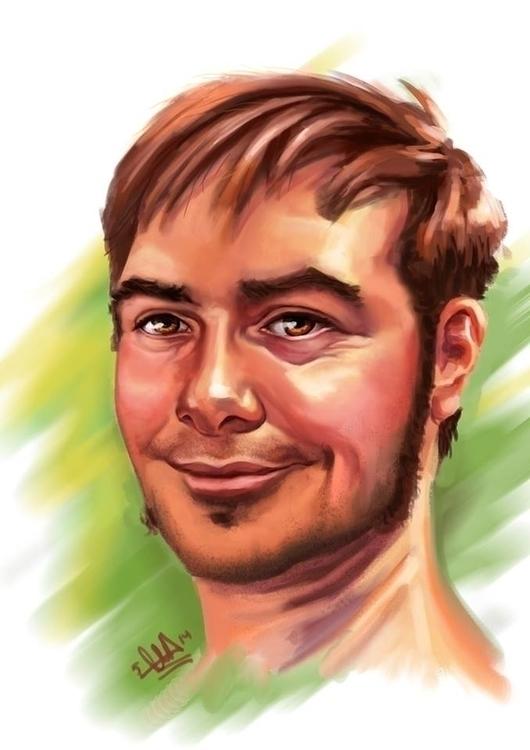 digitalpainting, portrait, male - evabites | ello