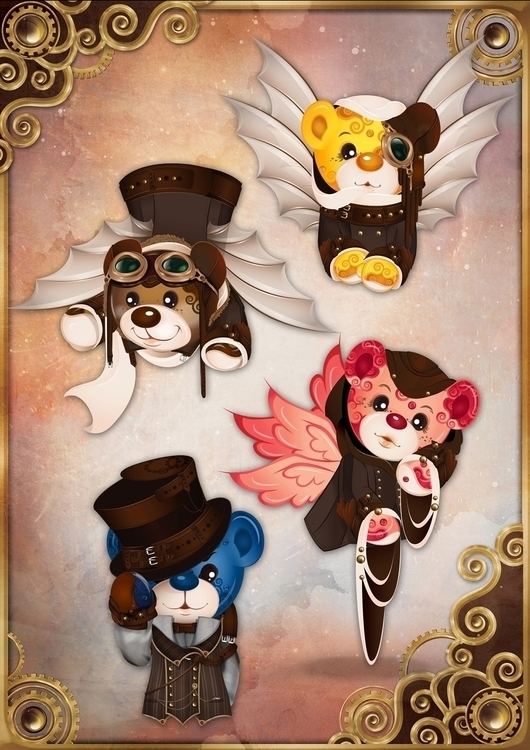 Rainbow Bears: Steampunk Editio - tenenbris | ello