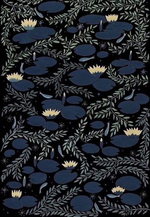 waterlily - illustration, painting - daottlinh | ello