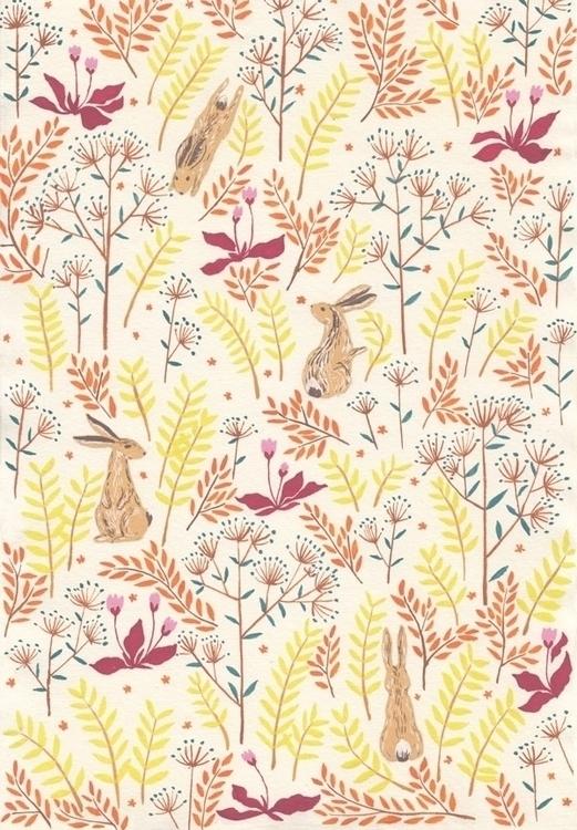 hare - illustration, painting, rabbit - daottlinh | ello