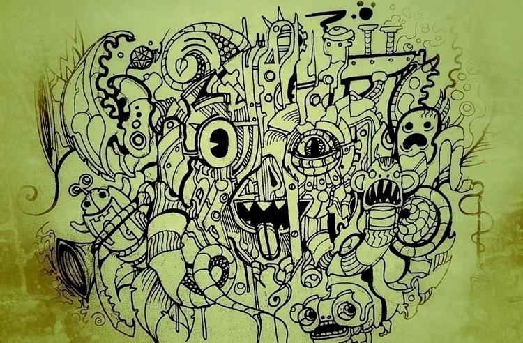 Crazy - mural, cartoon - jeremieduval | ello