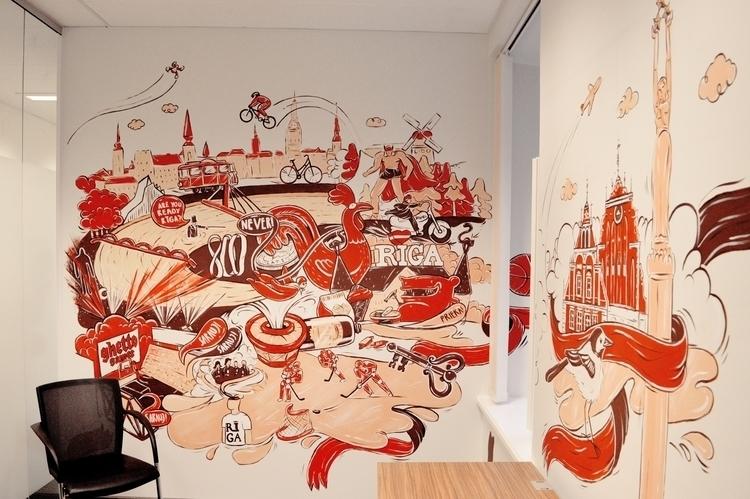 mural google office 1 - riga, vilnius - mildeo | ello
