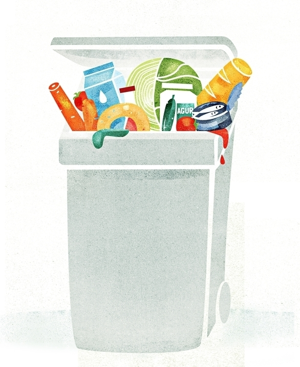 wasted food - foodillustration, illustration - mildeo | ello