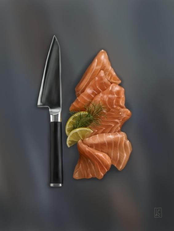 Salmon Fine Art, Digital Painti - lethacarrico | ello