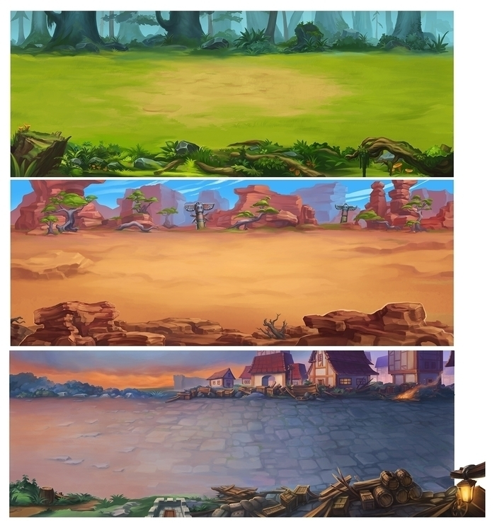 Game Backgrounds 1 - illustration - mircha | ello